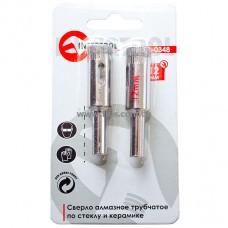 Коронка трубчатая по стеклу и керамике 12 мм (упаковка 2 шт) INTERTOOL SD-0348