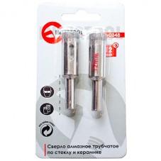Коронка трубчатая по стеклу и керамике 14 мм (упаковка 2 шт) INTERTOOL SD-0349