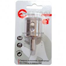 Коронка трубчатая по стеклу и керамике 26 мм INTERTOOL SD-0357