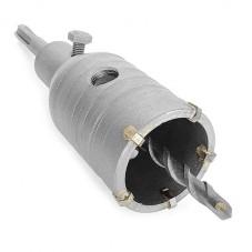 Комплект: сверло корончатое по бетону 46 мм+Переходник SDS Plus 100мм INTERTOOL SD-7046
