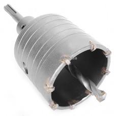 Комплект: сверло корончатое по бетону 65 мм+Переходник SDS Plus 100мм INTERTOOL SD-7065