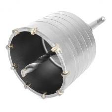 Комплект: сверло корончатое по бетону 75 мм+Переходник SDS Plus 100мм INTERTOOL SD-7075