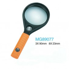 Ручная лупа круглая MG89077, увеличение 3X - 90мм, 8X - 23мм