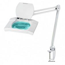 Лампа-лупа косметологическая с LED подсветкой на струбцине 5 диоптрий увеличение 8609L