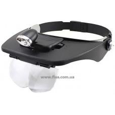Бинокулярная лупа с LED подсветкой 1.2X-6X увеличения Magnifier 81001-F