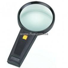Лупа ручная круглая с подсветкой, 2,5Х, диам-90мм, (Magnifier 82015)