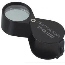 Ювелирная лупа 30X увеличение, диаметр 21мм Magnifier K999