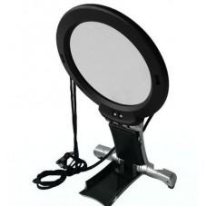 Лупа для вышивания с LED подсветкой 2.25+5X увеличение, диаметр 100+25мм, Magnifier 11B-1