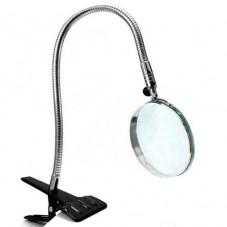 Настольная лупа на прищепке 3X увеличение, диаметр 75 мм, Magnifier 15122
