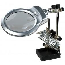 "Держатель ""Третья рука"" ZD-10M, 5Х, диам.- 85мм, с LED подсветкой"
